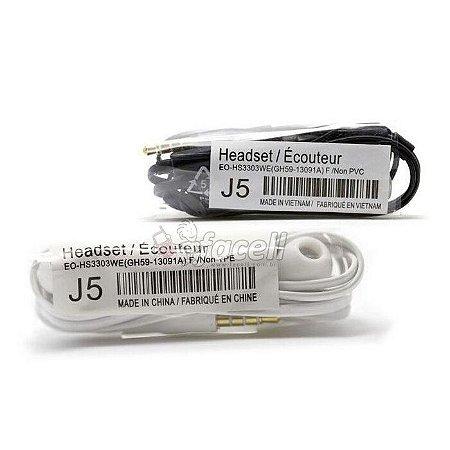 Fone De Ouvido com Microfone  P2  J5 Headset Escolha a Cor: