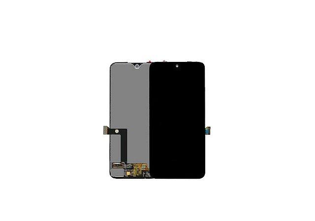 Display Frontal Moto G7/ G7 Plus Preto sem Aro 1 Linha Super