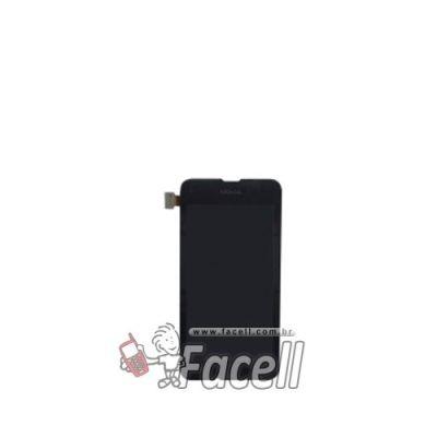 Touch + LCD (Frontal) Nokia Lumia 530 RM1020 - Preto