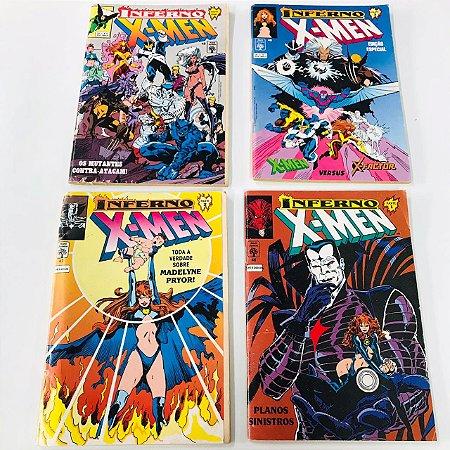 X-men 1ª Série - Saga Inferno Completo (Encadernado) 1 ao 4