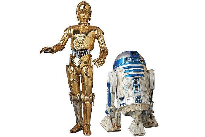 C-3PO e R2-D2 Star Wars MAFEX No.012 Medicom Toy Original