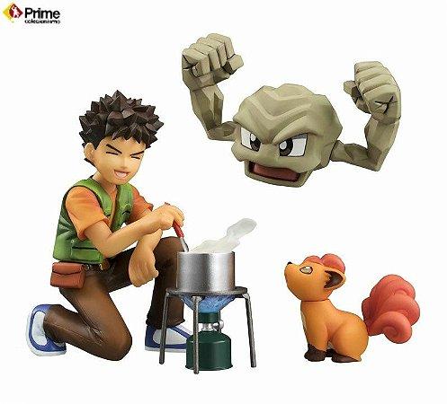 [ENCOMENDA] Brock & Geodude & Vulpix Pokemon G.E.M. Series Megahouse original