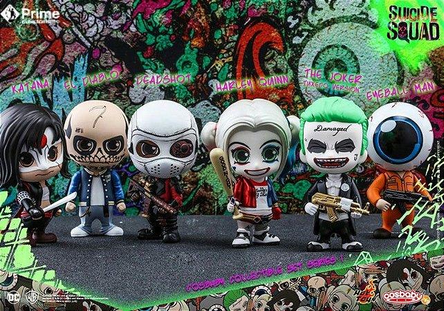 Esquadrão Suicida Series 1 DC Comics Cosbaby Collectible Set Hot Toys Original