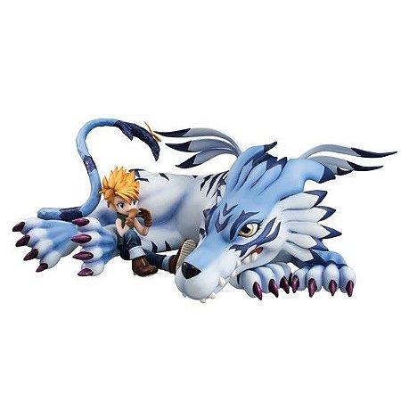 Matt & Garurumon Digimon Adventure G.E.M. Series Megahouse original ENCOMENDA