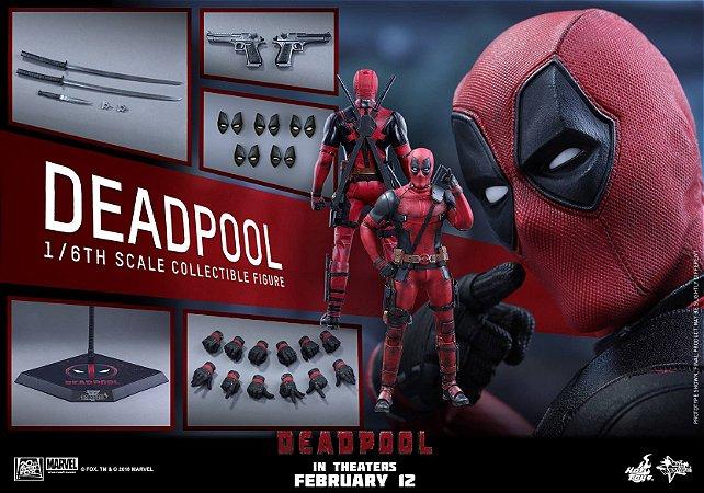 Deadpool Marvel Hot Toys Escala 1/6 original