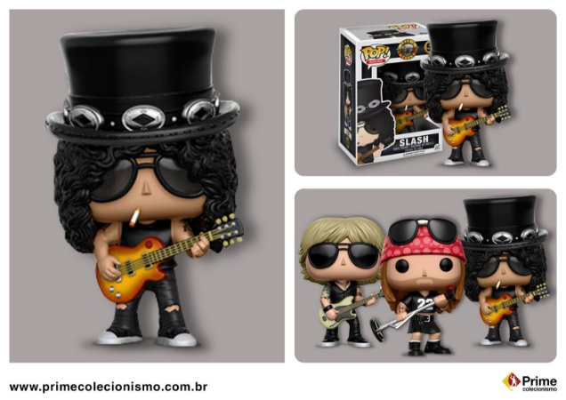Slash Gun's N Roses Pop! Rocks Funko Original