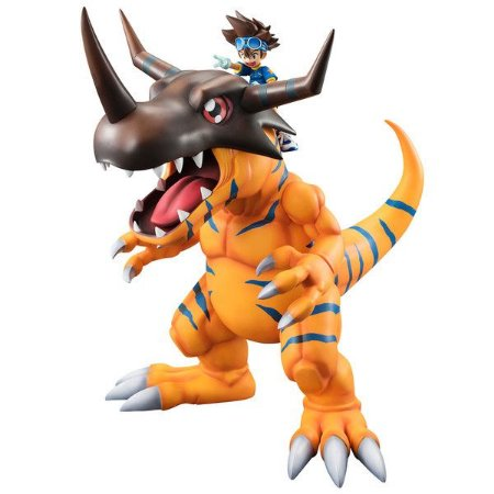 Greymon e Taichi Digimon Adventure G.E.M. Megahouse original