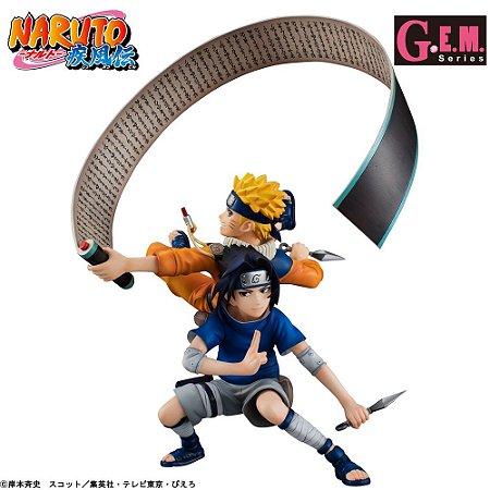 [ENCOMENDA] Uchiha Sasuke e Uzumaki Naruto G.E.M. Remix Megahouse Original