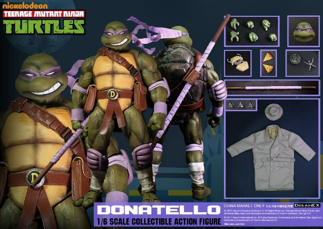 Donatello Tartarugas Ninjas 1/6 Dreamex Nickelodeon Original
