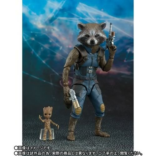 Rocket & Baby Groot of Guardians of the Galaxy Vol. 2 S.H. Figuarts Bandai Original