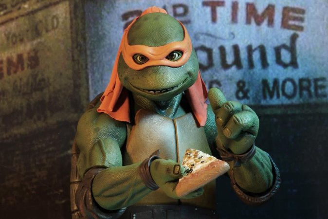 Michelangelo Tartarugas Ninja o filme 1990 Escala 1/4 Neca Original