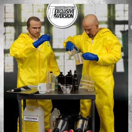 Jesse e Heisenberg Breaking Bad Hazmat Suit Threezero Exclusive Edition Original
