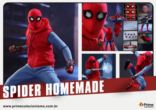 [PRÉ-VENDA] Spiderman Homecoming Hot Toys 1/6 Original Homemade version