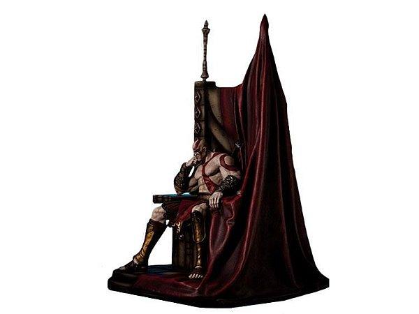 Kratos on Throne Statue God of War Gaming Heads Original