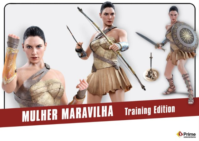 Mulher Maravilha Training Armor Version Movie Masterpiece Hot toys original