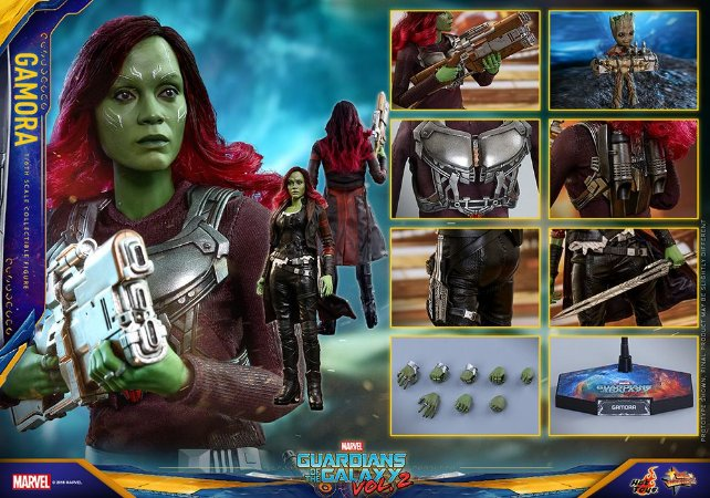 Gamora Guardiões da Galaxia volume 2 Movie Masterpieces Hot Toys Original