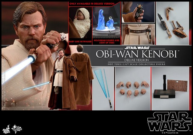 Obi-Wan Kenobi Star Wars Episodio 3 Vingança dos Sith Movie Masterpieces Hot Toys Original