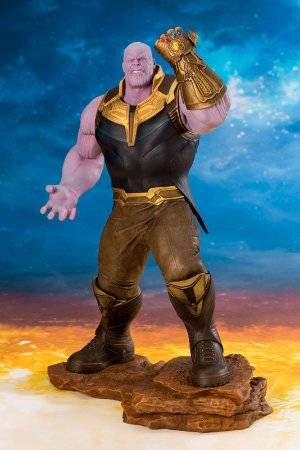 Thanos Vingadores Guerra Infinita ARTFX+ Easy Assembly Kit Kotobukiya Original
