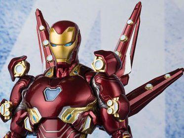 Homem de Ferro Mark 50 com Nano armas conjunto 2 Vingadores Guerra infinita Marvel S.H. Figuarts Bandai Original