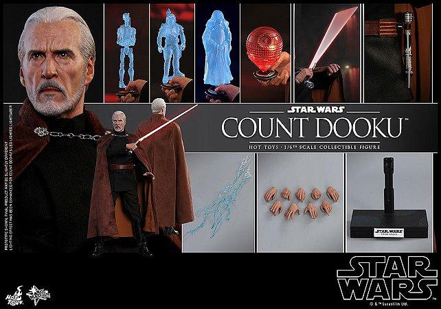 Count Dooku Star Wars Episodio II Ataque dos Clones Movie Masterpiece Hot Toys Original