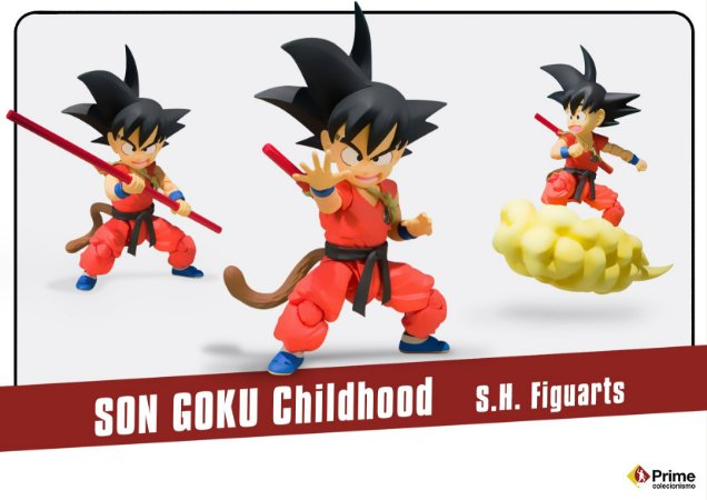 Son Goku infância Dragon Ball S.H. Figuarts Bandai Original