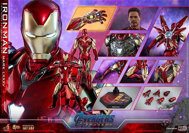Homem de Ferro Mark 85 Vingadores Ultimato Marvel Movie Masterpieces Diecast Hot Toys Original