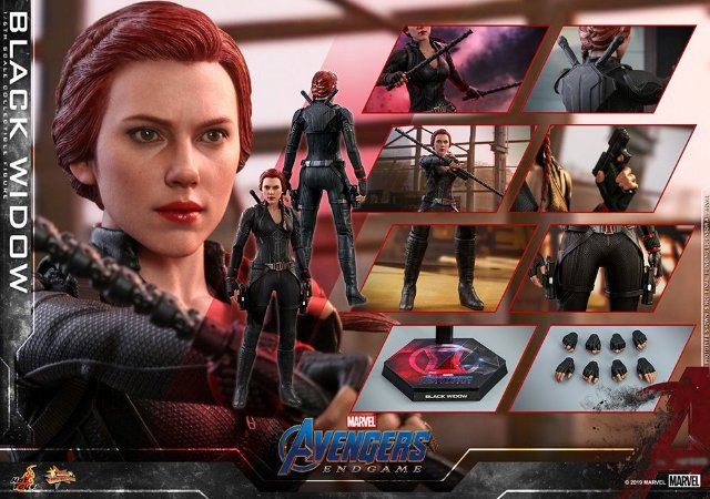 Viuva Negra Vingadores Ultimato Marvel Movie Masterpiece MM533 Hot Toys Original