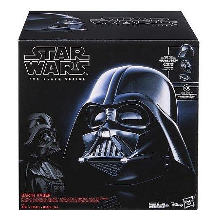 Capacete eletrônico Darth Vader Star Wars The Black Series Hasbro Original
