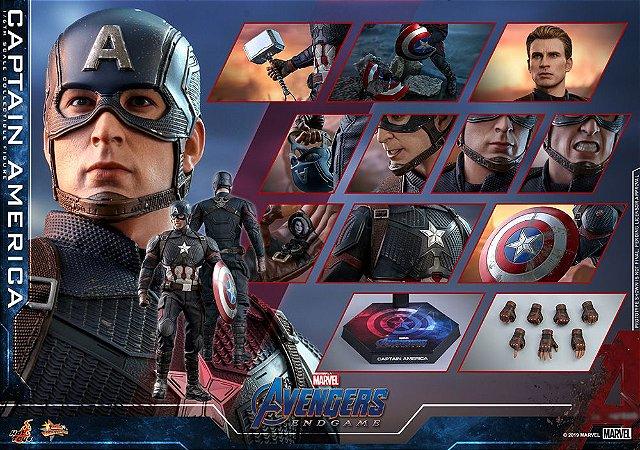 Capitão America Vingadores Ultimato Marvel Movie Masterpiece MM536 Hot Toys Original