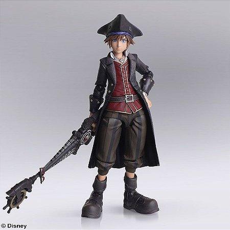 Sora Piratas do Caribe Kingdom Hearts Bring Arts Square Enix Original