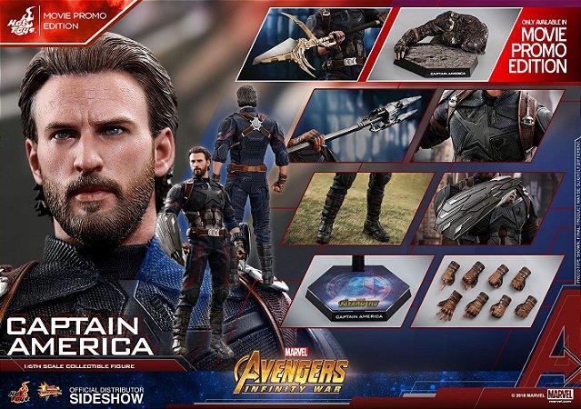 Capitão America Vingadores Guerra infinita Marvel Comics Movie Masterpiece Hot Toys Original