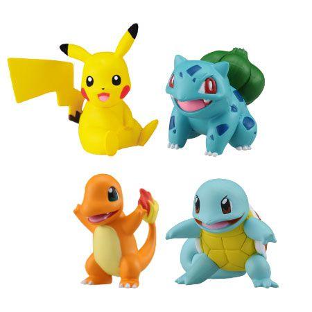 Pikachu Squirtle Bulbasaur Charmander Pokemon Takara Tomy Original