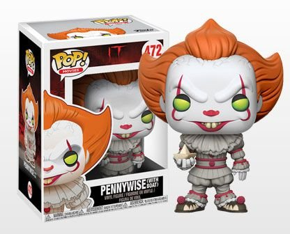 Pennywise com barco IT Pop! Movies Funko Original