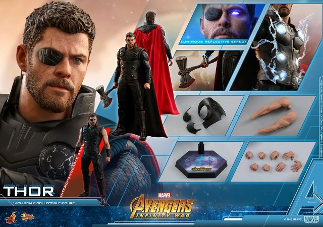 Thor Vingadores Guerra Infinita Movie Masterpiece Hot Toys Original