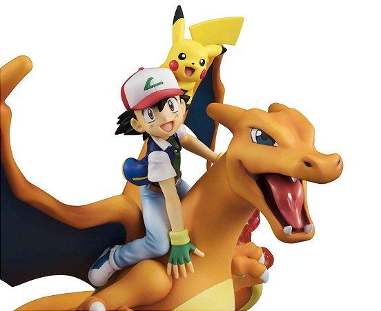 Ash Ketchum Pikachu Charizard Pokemon G.E.M. Megahouse Original
