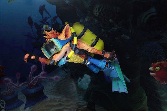 Crash Bandicoot Traje de Mergulho Crash Bandicoot Neca Original