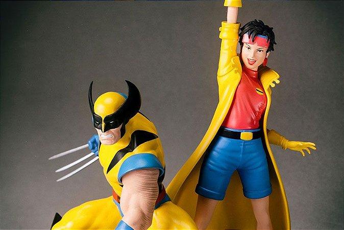 Wolverine e Jubileu Marvel Universe Artfx+ Easy Assembly Kit Kotobukiya  Original