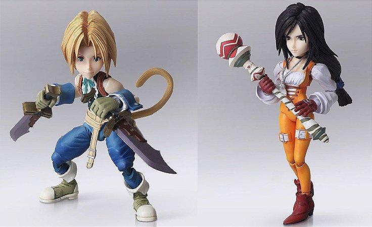 Zidane Tribal e Garnet Til Alexandros XVII Final Fantasy IX Bring Arts Square Enix Original