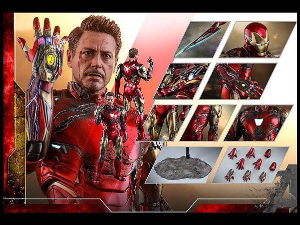 Homem de Ferro Mark 85 Versão Battle Damaged Vingadores Ultimato Movie Masterpiece Diecast Hot Toys Original
