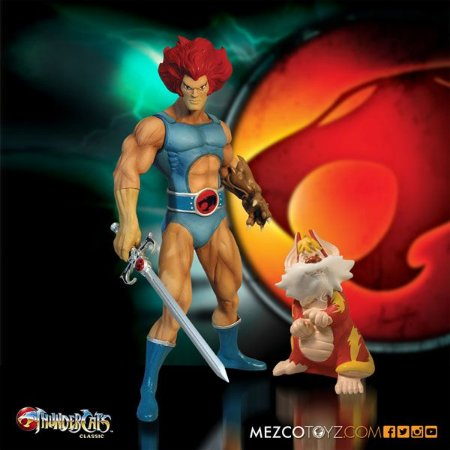 Lion-o & Snarf Thundercats Classic Mega-Scale Mezco Toyz Original