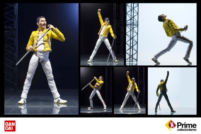 Freddie Mercury Queen Live at Wembley Stadium S.H. Figuarts Bandai Original