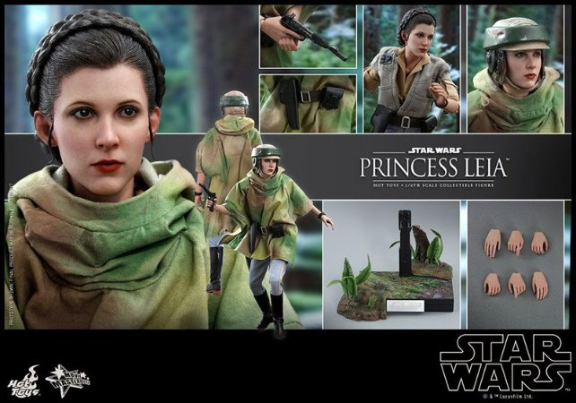 Princesa Leia Organa Star Wars Episodio 6 O retorno de Jedi Movie Masterpiece Hot Toys Original