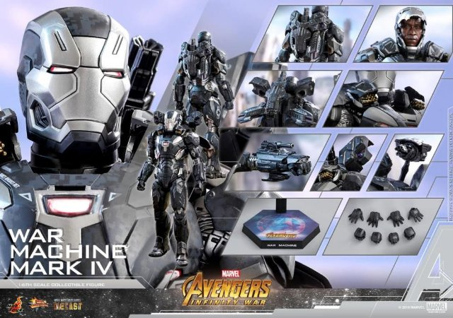 War Machine Mark IV Vingadores Guerra infinita Marvel Movie Masterpieces Hot Toys Original