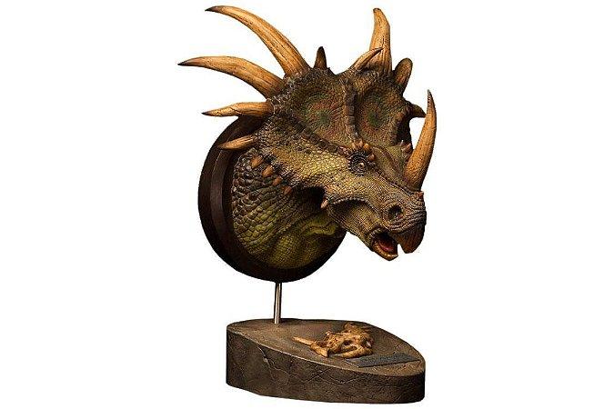 Estiracossauro Marrom Paleontology World Collectible Museum Series DamToys Original