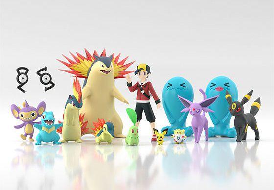 Ethan e set pokemons Pokemon Scale World Bandai Original