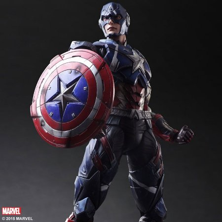 Capitão America Marvel Comics Play Arts Kai Variant Square Enix Original