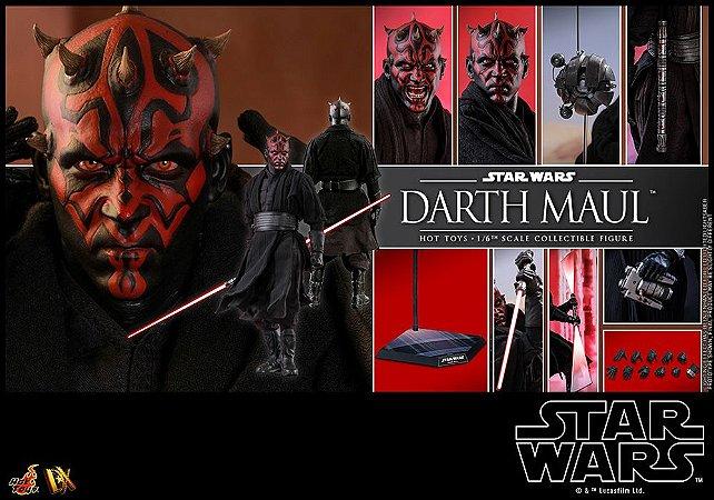 Darth Maul Star Wars Episódio I A ameaça fantasma Movie Masterpiece Dx16 Hot Toys Original