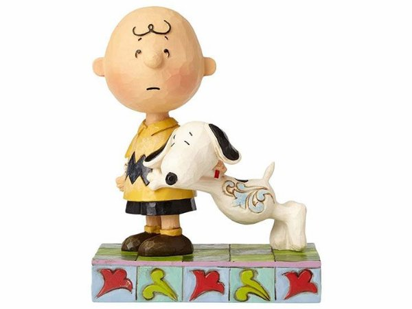 "Charlie Brown & Snoopy Peanuts ""I'll Miss You"" Jim Shore Enesco Original"