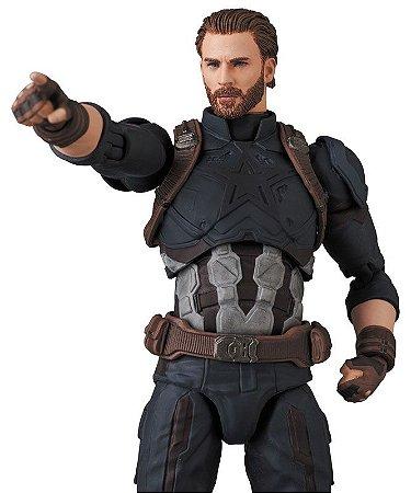 Capitão America Vingadores Guerra Infinita Mafex No.122 Medicom Toy Original