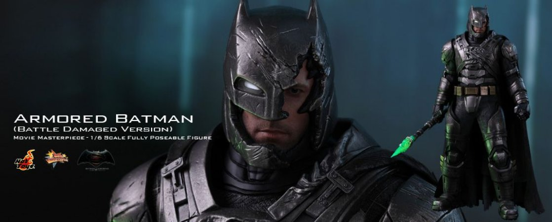 Batman Armored Battle Damage Edition Batman vs Superman A origem da justiça Movie Masterpiece Hot Toys Original